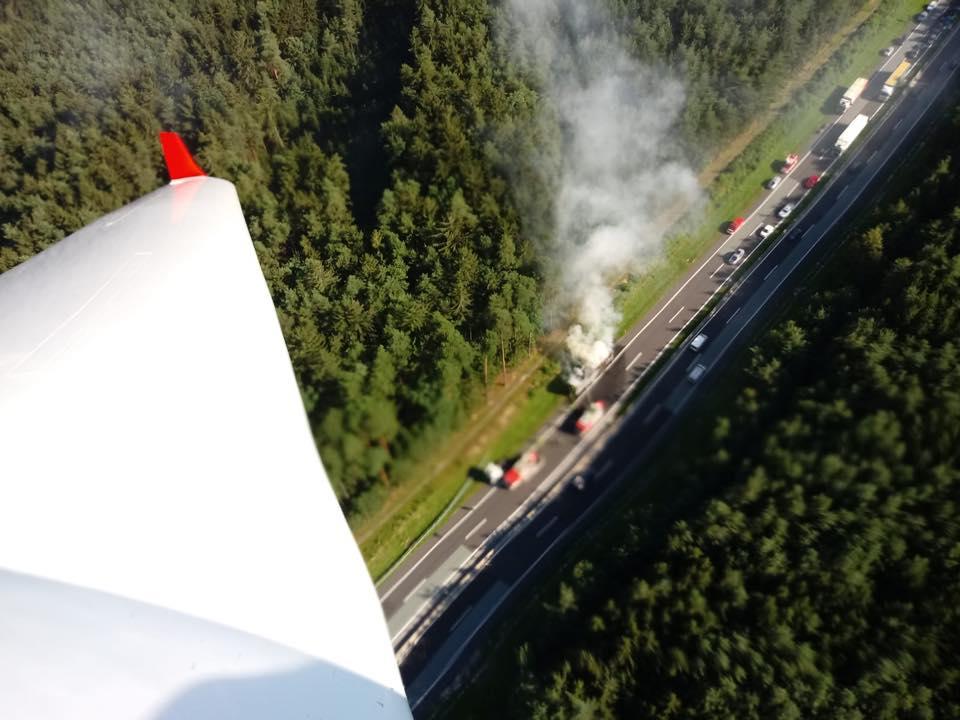 B2 LKW-Brand A2 Südautobahn